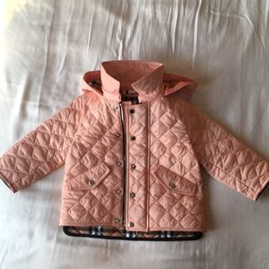 ea736578a New! Burberry Ilana Baby Girls Pink Quilted Jacket